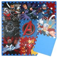 Marvel Avengers 9pc Floor Tile Foam Interlocking Fitness Mats