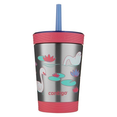Contigo 12oz Kids Thermalock Stainless Steel Spill-Proof Tumbler with Straw
