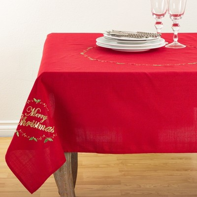Red Solid Tablecloth - Saro Lifestyle