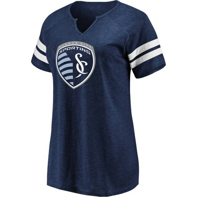 MLS Sporting Kansas City Women's Short Sleeve Split Neck T-Shirt