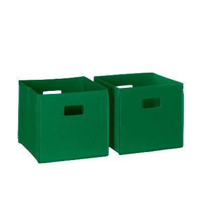 RiverRidge 2pc Folding Toy Storage Bin Set - Green