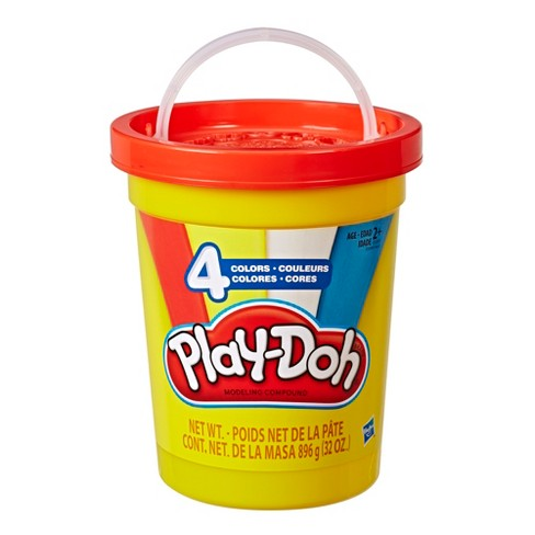 Play-Doh 2lb Bulk Super Can of Non-Toxic Modeling Compound with 4 Classic Colors - Red, Blue, Yellow, and White - image 1 of 2