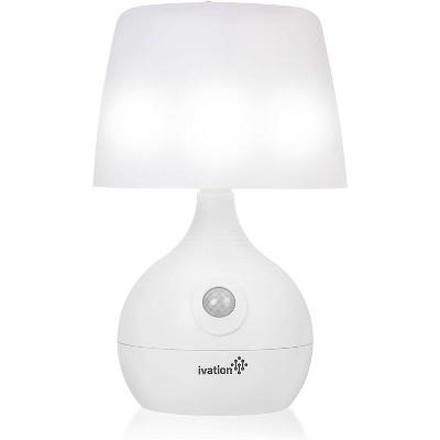 Ivation 12-LED Motion Sensing Small Table Lamp, Dual Color Range, White