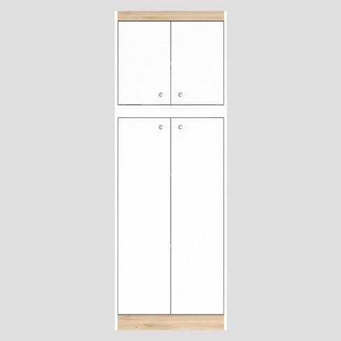 4 Door Kitchen Storage Cabinet White