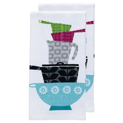 Gray Print Pots & Pans Kitchen Towel (16 x26 )T-Fal