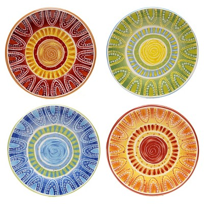 Certified International Dessert Plates (8.75 )Red - Set of 4