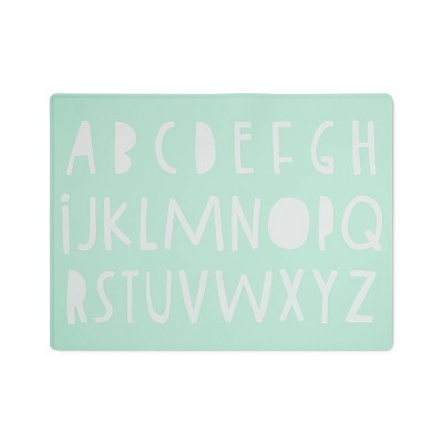 Silicone Place Mat with Decal - Cloud Island™ Green Alphabet