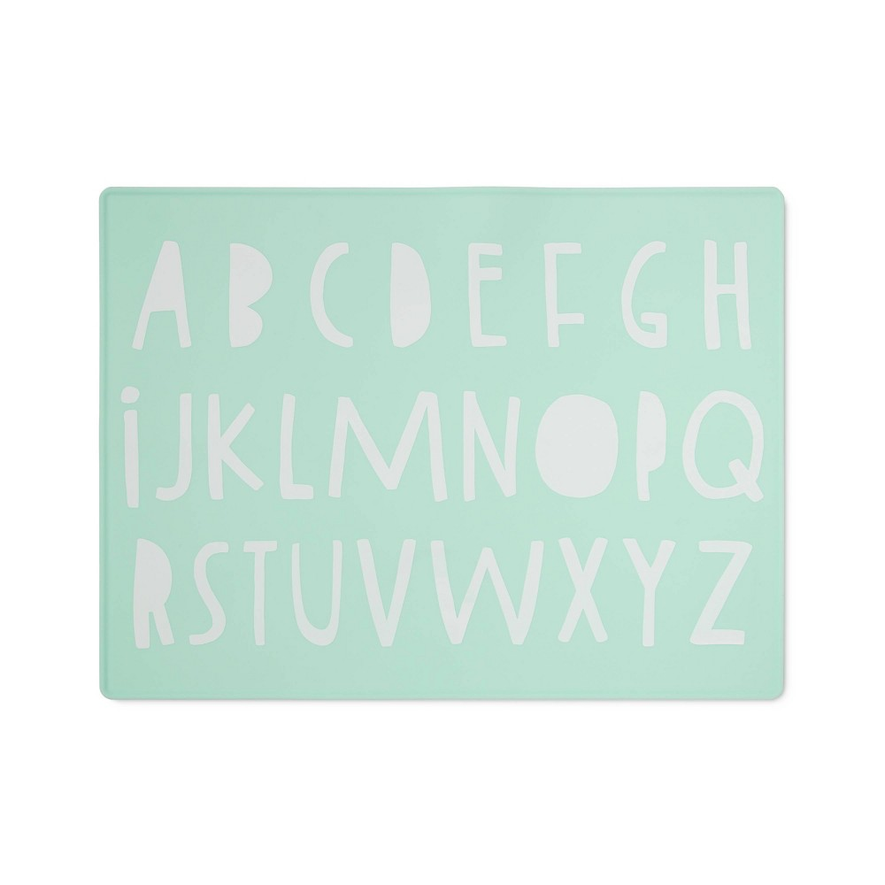 Silicone Place Mat with Decal Cloud Island 8482 Green Alphabet