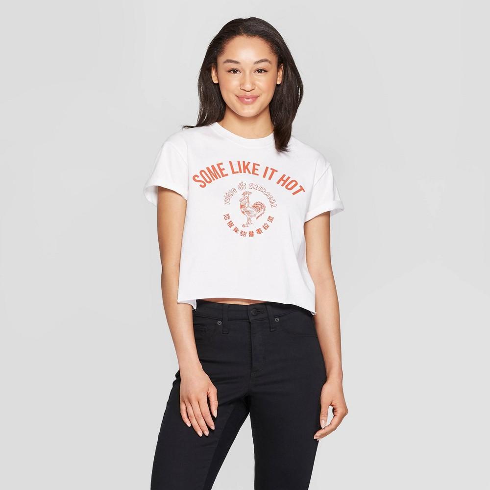 Women's Sriracha Short Sleeve Cropped T-Shirt (Juniors') - White Xxl