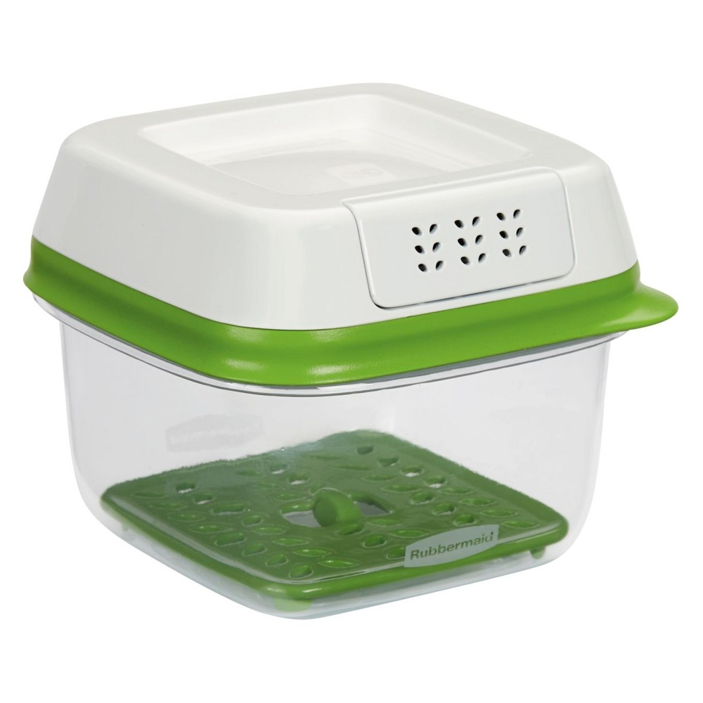 Rubbermaid 2.5 Cup FreshWorks Produce Saver Food Storage Container Green, Size: 2.5cup, Clear