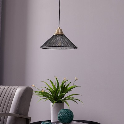 "8"" Beckly Downlight Mini Pendant Lamp Black - Aiden Lane"
