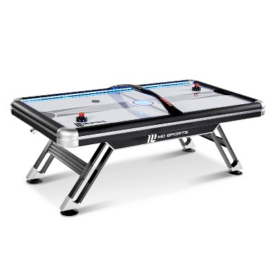MD Sports Titan 7.5' Air Powered Hockey Table with Overhead Scorer - Black