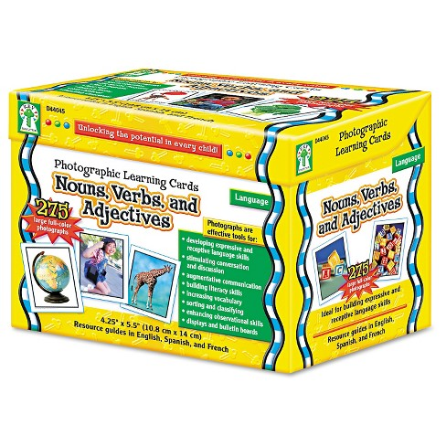 Carson-Dellosa Publishing Photographic Learning Cards Boxed Set, Nouns/Verbs/Adjectives, Grades K-12 - image 1 of 2