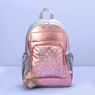 """16.5"""" Kids' Backpack Rose Gold with Star Print - More Than Magic™"""