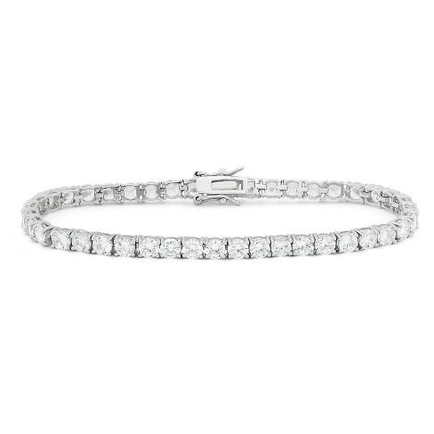 4mm Round-cut Cubic Zirconia Tennis Bracelet in Sterling Silver - image 1 of 1
