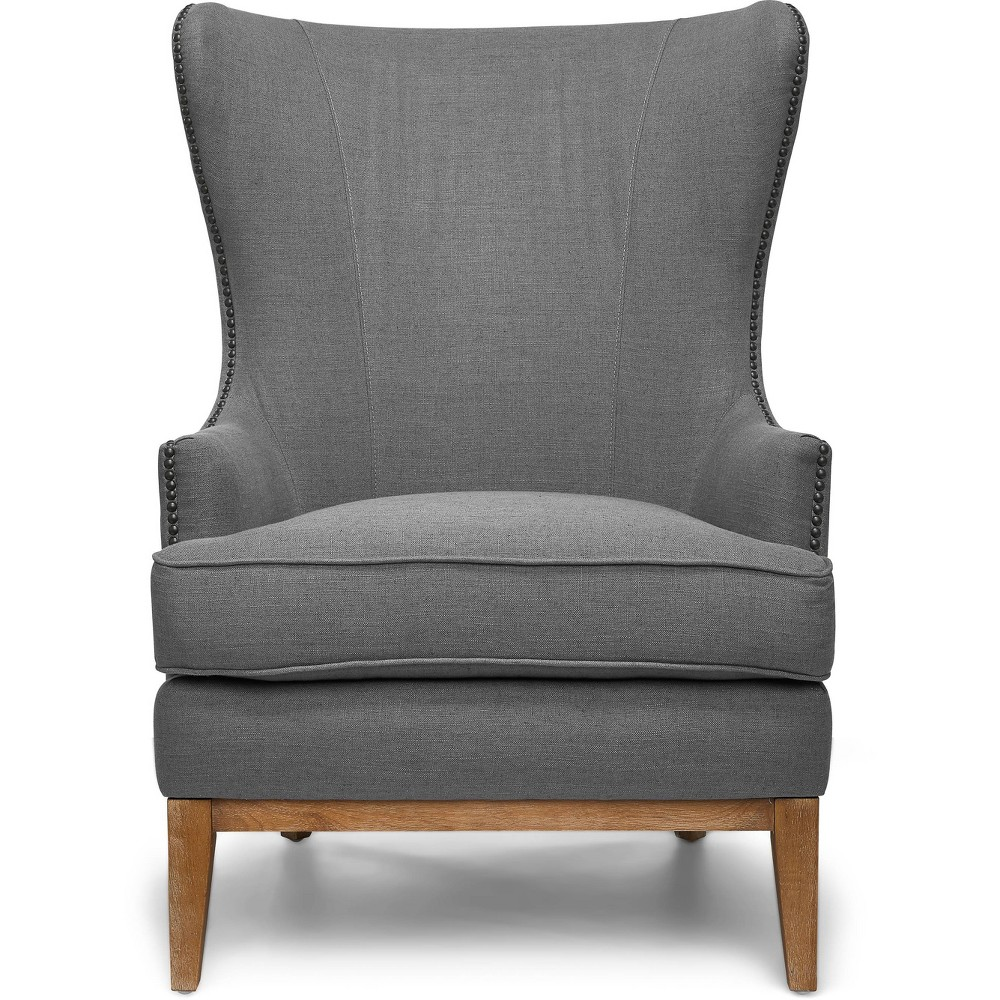 "Image of ""24"""" Amelie Mid-Century Modern Arm Chair - Adore Décor, Gray"""