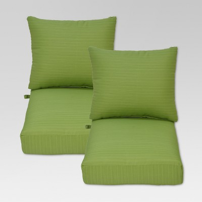 Ft. Walton 4pc Outdoor Deep Seating Chair Back/Seat Cushion Set - Green - Threshold™