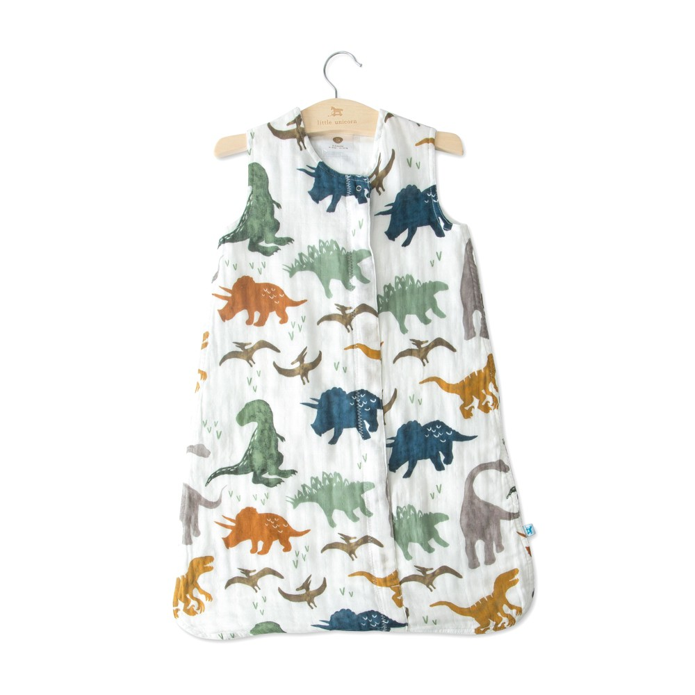 Image of Little Unicorn Cotton Muslin Sleep Bag Dino Friends - SM