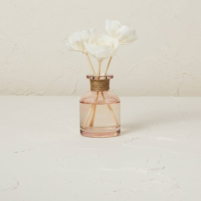 100ml Pink Wooded Rose Oil Reed Diffuser with 3 Sola Flowers - Opalhouse™ designed with Jungalow™