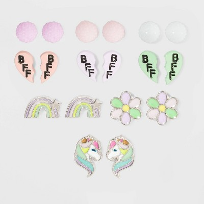 Girls' 9pk Heart Stone and Butterfly Set  Earrings - Cat & Jack™