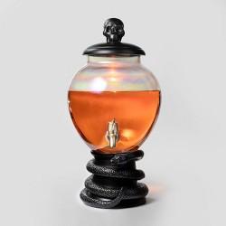 5L Halloween Light-Up Glass Beverage Dispenser (with Black Snake Base) - Hyde & EEK! Boutique™