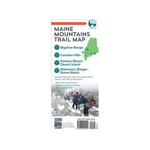 Appalachian Mountain Club Maine Mountains Trail Maps 3 6 Bigelow