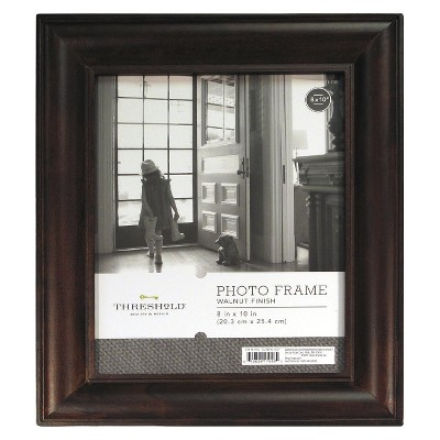 8 x10  Wood Mantel Frame Stained Walnut - Threshold™