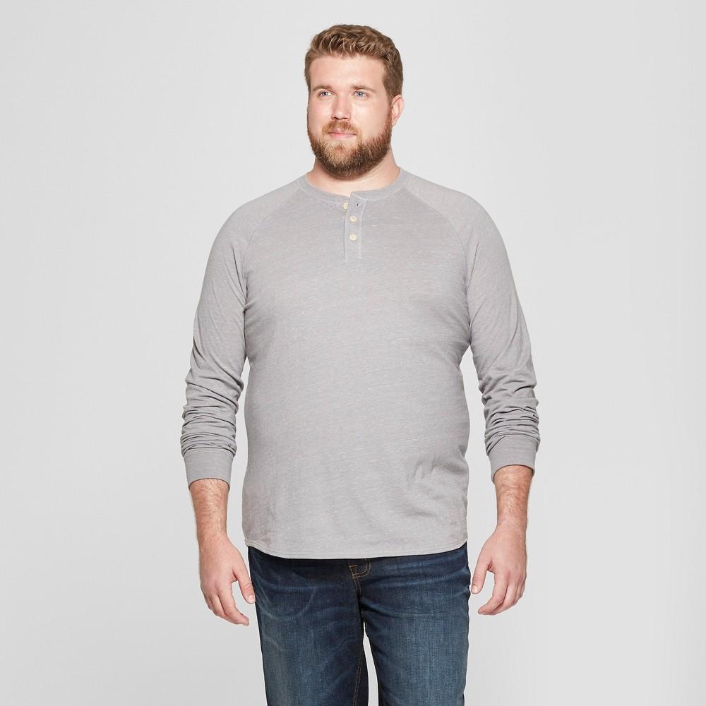 Men's Big & Tall Long Sleeve Jersey Henley Shirt - Goodfellow & Co Gray 4XB