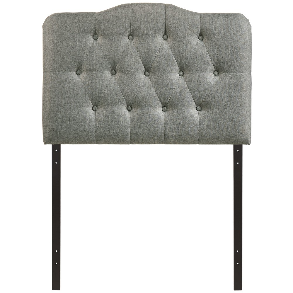 Annabel Twin Upholstered Fabric Headboard Gray - Modway