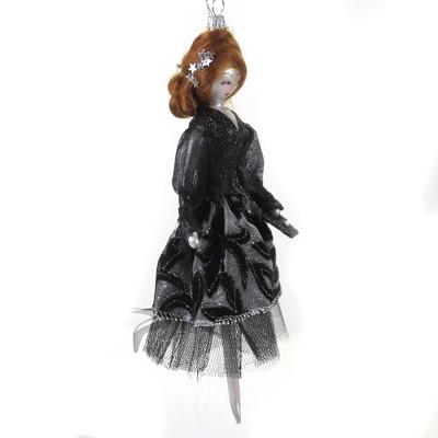 "Italian Ornaments 7.0"" Carlee In Brocade Skirt Ornament Italian Lady Diva  -  Tree Ornaments"