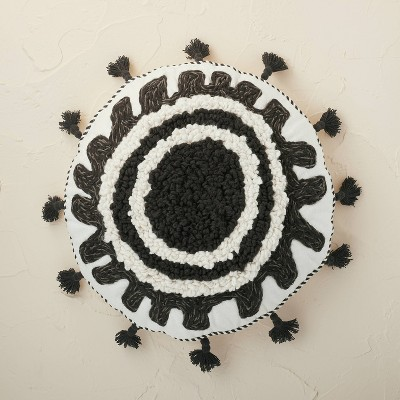 Tufted and Embroidered Medallion Round Throw Pillow - Opalhouse™ designed with Jungalow™