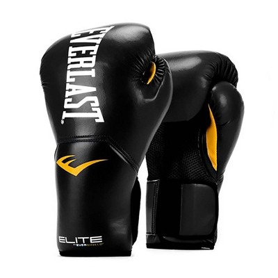 Everlast Pro Style Elite Exercise Workout Training Boxing Gloves for Sparring, Heavy Bag and Mitt Work, Size 9 Ounces, Black
