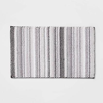"""24""""x40"""" Loop Memory Foam Accent Bath Rug Gray - Room Essentials™"""