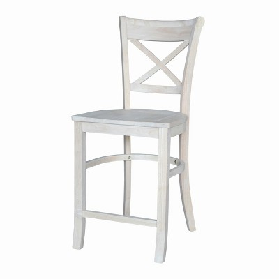 """24"""" Charlotte Counter Height Barstool Unfinished - International Concepts"""