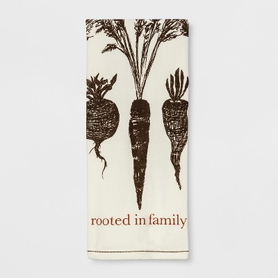 28 x18  Rooted In Family Kitchen Towel Cream - Threshold™