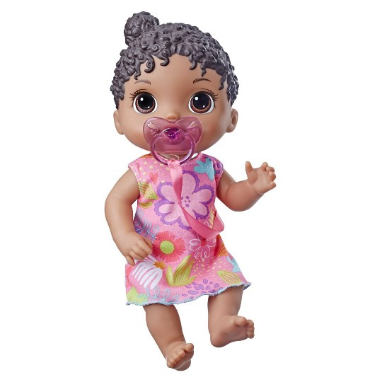 Baby Alive Baby Lil Sounds: Interactive Black Hair Baby Doll image number null