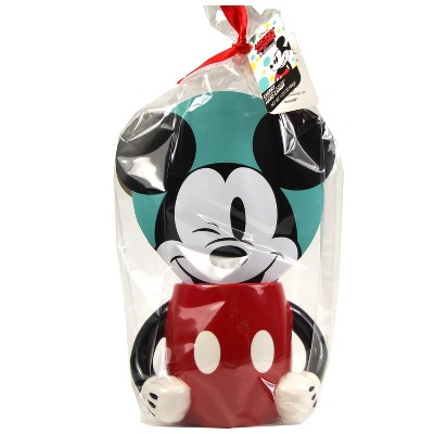 Disney Mickey Mouse & Minnie 2 Handle Mug with Faux Box with Cherry Buttons - 1.55oz