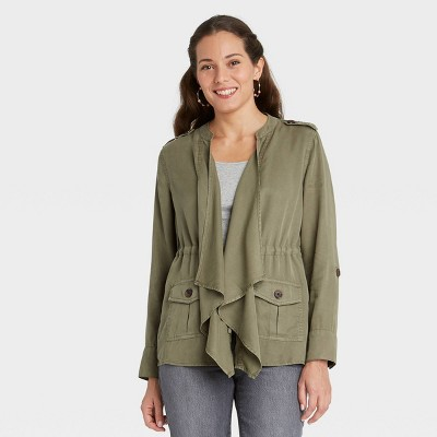Women's Drapey Cargo Wrap Jacket - Knox Rose™
