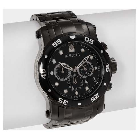 Men's Invicta Pro Diver 23654 Stainless Steel Chronograph Dial Bracelet and Strap Watch Set - Black - image 1 of 4