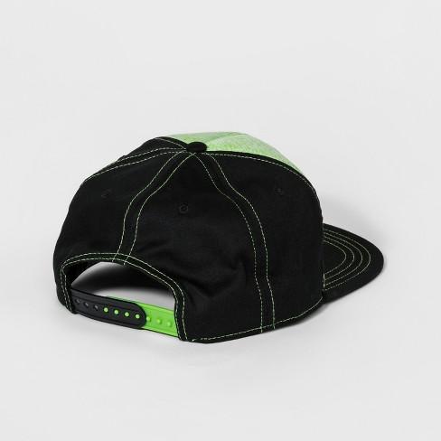 991cb7a2278 Boys  Minecraft Creeper Baseball Hat - Green Black   Target