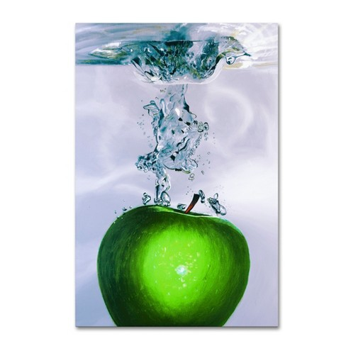'Apple Splash II' by Roderick Stevens Ready to Hang Canvas Wall Art - image 1 of 3