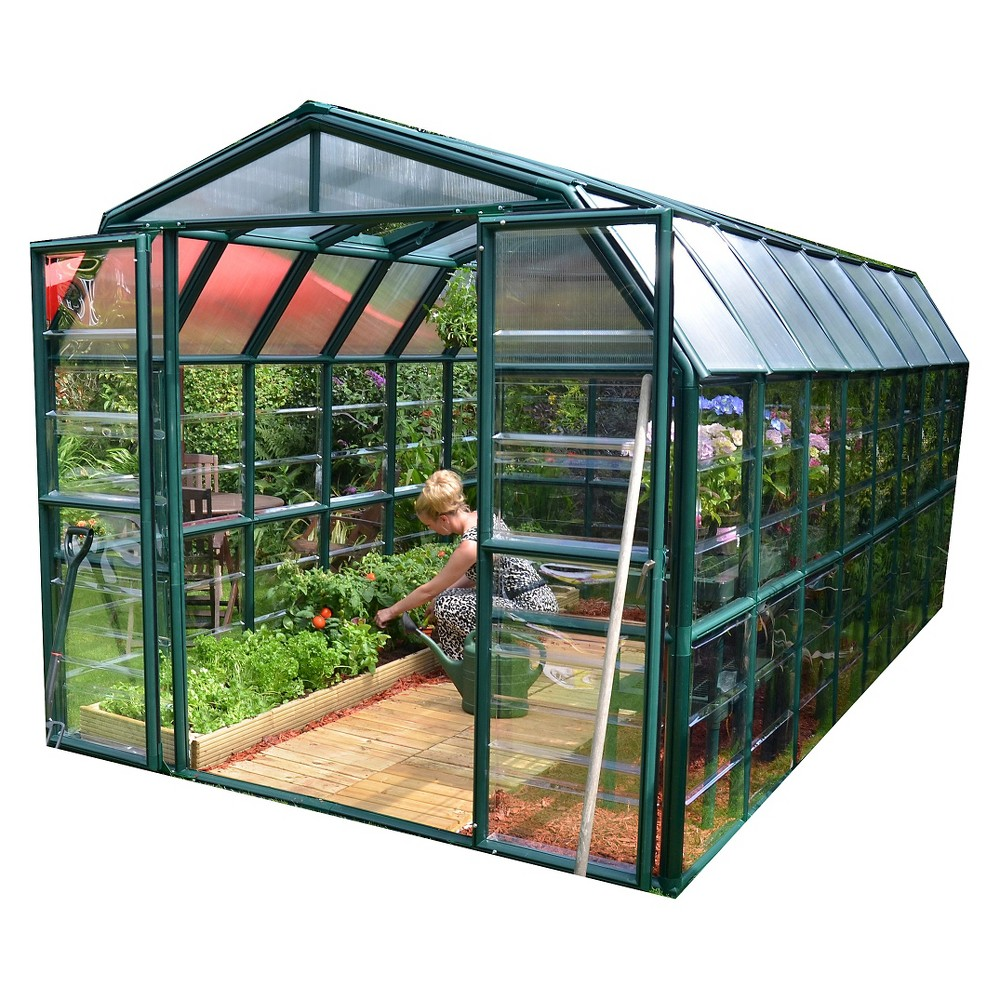 8' x 16' Grand Gardener 2 Clear - Forest (Green) - Rion