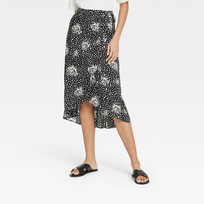 Women's Floral Print Maxi Wrap Skirt - Knox Rose™