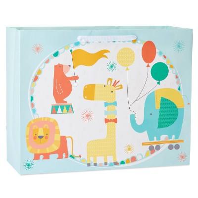 Medium Circus Animals Baby Shower Gift Bag - Spritz™