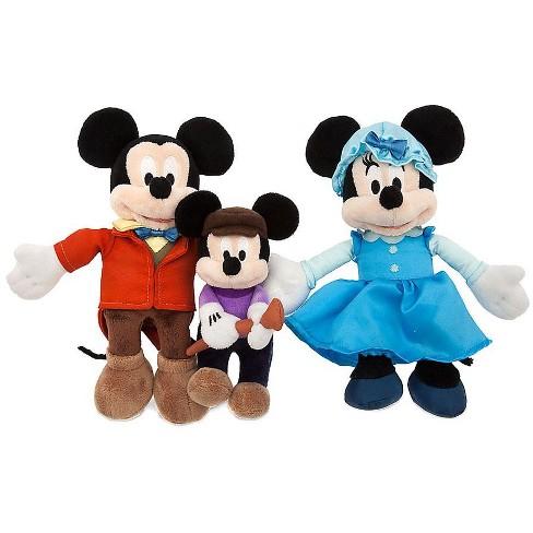 Mickeys Christmas Carol Minnie.Disney 2016 Holiday Mickey S Christmas Carol 8 Inch Plush 3 Pack Set Mickey Minnie And Tiny Tim