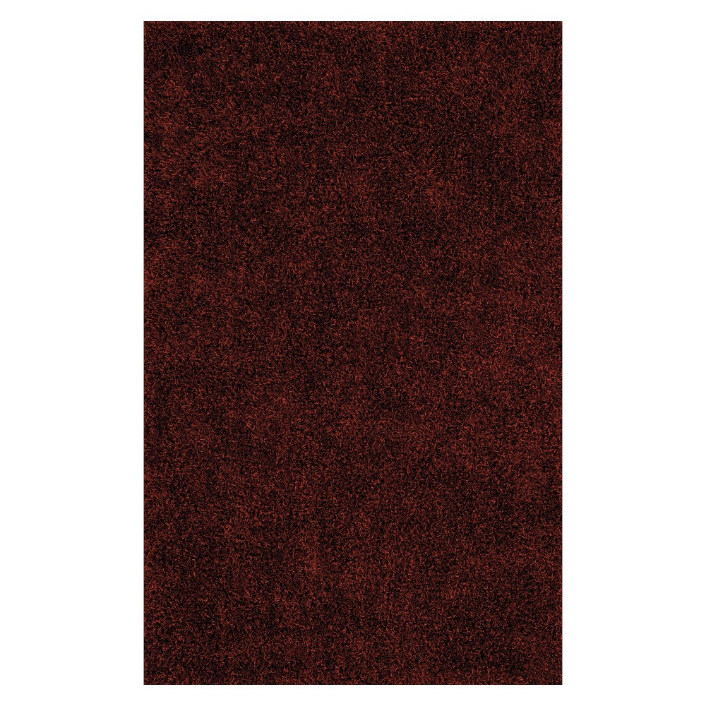 Lustrous Shoestring Shag Area Rug - Paprika (Red) (9'x13')