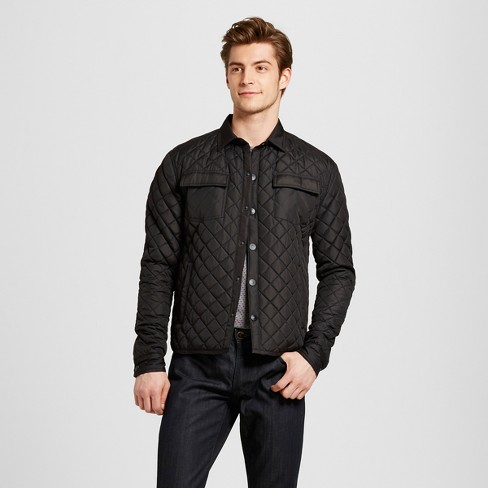 Seduka Mens Quilted Shirt Jacket Target