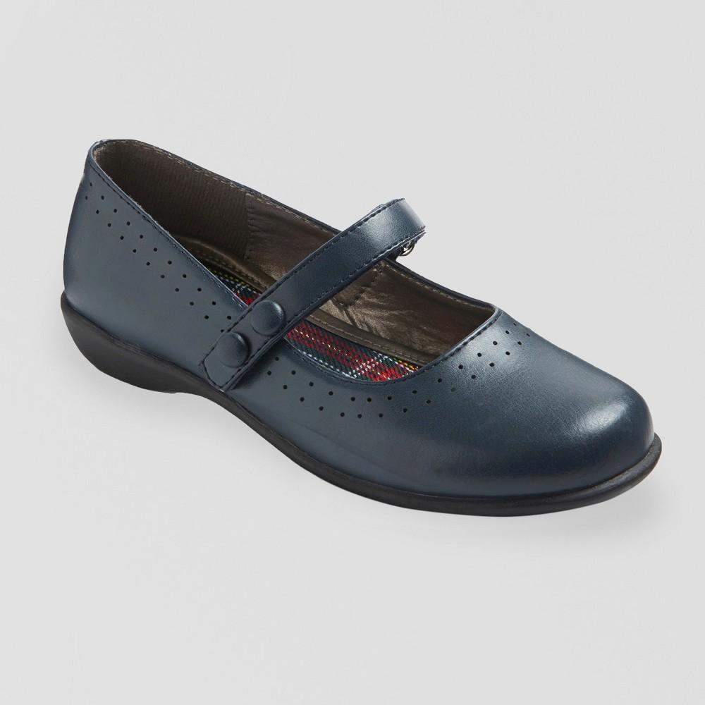 Girls' Ellen Ballet Flats - Navy (Blue) 6