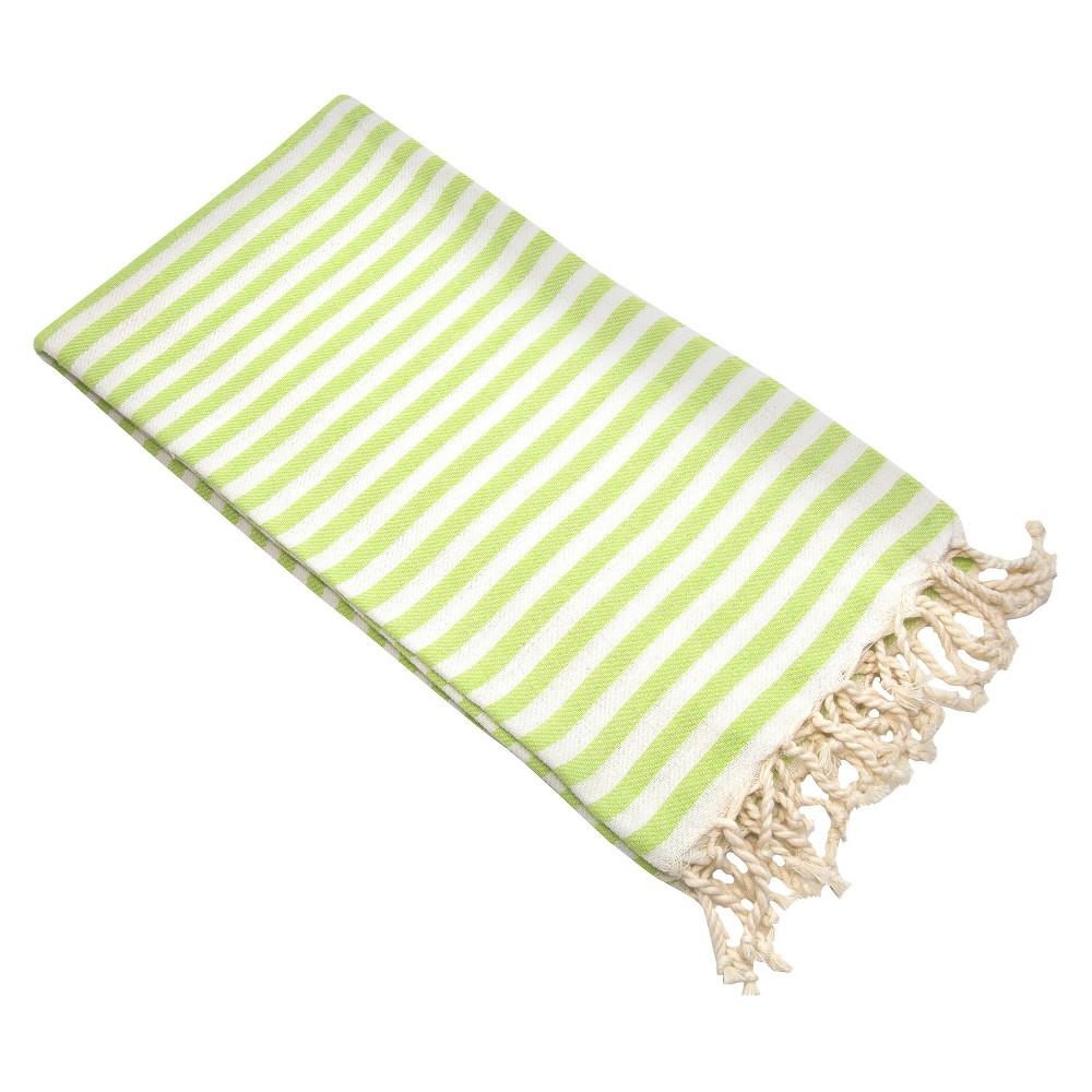 Image of Fun in the Sun Pestemal Beach Towel Pistachio Green