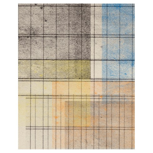 Grid Abstract 4 Unframed Wall Canvas Art - (16X20) - image 1 of 1